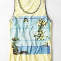 AEO Men's Palm Trees Graphic Tank (Chill Lemonade)