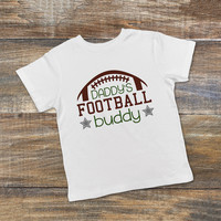 Boys Football Shirt - Toddler Tshirt - Daddy's Football Buddy - Father's Day gift from son