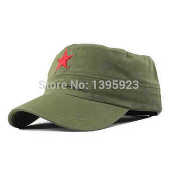 Hot Sale Vintage Unisex Women Men Patrol Fatigue Army Cap Fabric Adjustable Red Star Outdoor Sun Casual Military Hat