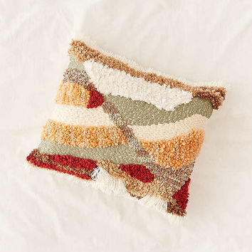 Mountain Fringe Shag Throw Pillow | Urban Outfitters
