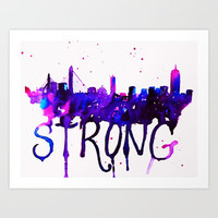 Boston Strong Art Print by Talula Christian