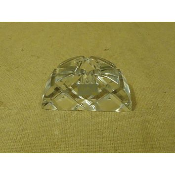 Mikasa Candle Holder 4in W x 2in H x 1 5/8in D Clear Crystal -- Used