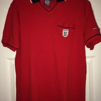 Sale!! Vintage ADMIRAL ENGLAND Soccer Polo Shirt Retro Football Jersey