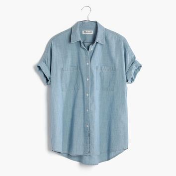 Chambray Courier Shirt in Buckley Wash : | Madewell