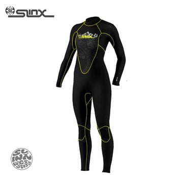 SLINX DISCOVER 1107 5mm Neoprene Women Spearfishing Windsurfing Snorkeling Swimwear Fleece Lining Warm Wetsuit Scuba Diving Suit