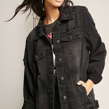 12x12 Ladder Distressed Denim Jacket
