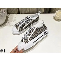 DIOR new tide brand women's style with letters low to help sports shoes #1