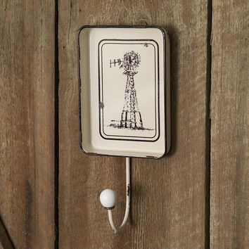 Windmill Hook with Decorative Tray