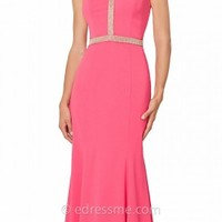 Embellished Halter Evening Gown by JS Collections