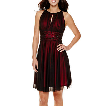 La Nouvelle Renaissance Sleeveless Beaded Fit-and-Flare Dress - JCPenney