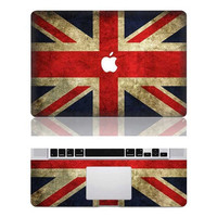 UK flag macbook pro cover decals mac pro cover stickers macbook pro decal laptop stickers macbook air cover stickers for pro/air