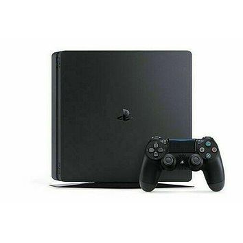 Sony PlayStation 4 Slim, 1TB Jet Black Console, WITH Accessories PS4 Slim