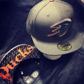 Anaheim Ducks New Era Snapback or Fitted Cap with Stanley Cup custom