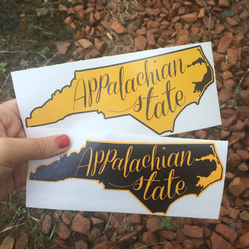 Appalachian State University Decal Free Shipping