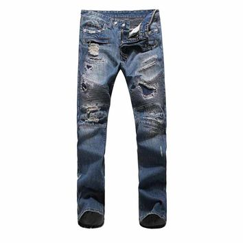 Indie Designs Balmain Homme Inspired Destroyed Biker Jeans
