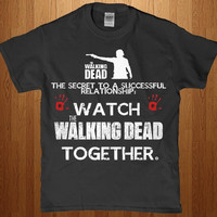 Watch the walking dead together adult unisex t-shirt