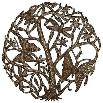 Dancing Butterflies and Dragonflies 24 inch Metal Art - Croix des Bouquets