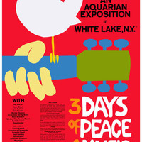 Woodstock Peace and Music Poster 11x17