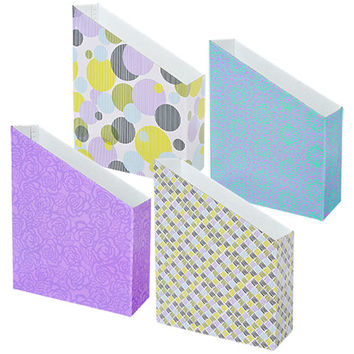 Bulk Jot Designer Corrugated Cardboard File Holders at DollarTree.com