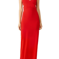 Badgley Mischka Red Odessa Crossover Gown