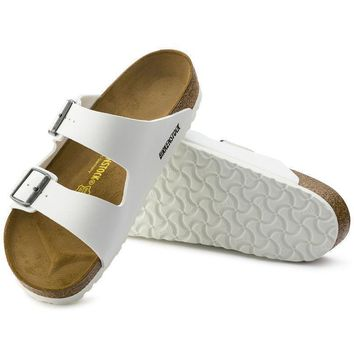 Sale Birkenstock Arizona Birko Flor White 0552681/0552683 Sandals