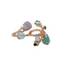 FEDERICA RETTORE Two Finger Paraiba Tourmaline Ring