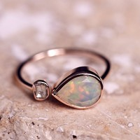 Free People Opal x Rose Cut Diamond Ring