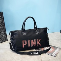 Sports gym bag 2018 New Large Capacity Tote  Red Duffle Bag Victoria gym Bag Secret Weekend Vs Pink Print Handbags for Women KO_5_1