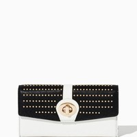 Studded Turnlock Wallet | Fashion Handbags & Accessories | charming charlie