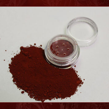 5g RED VELVET Natural Crushed Mineral Makeup BLUSH/Lip Color