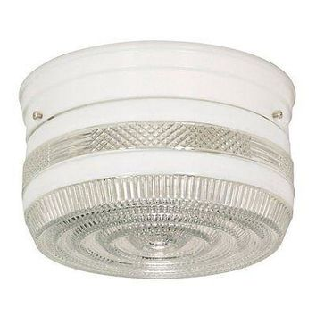 "Nuvo 77-098 - 8"" Close-To-Ceiling Flush Mount Ceiling Light"