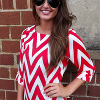Red Chevron Top | The Rage