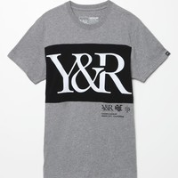 Young & Reckless Hybrid T-Shirt - Mens Tee - Grey