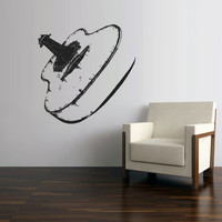 Wall Decal Vinyl Sticker Decals Acoustic Guitar Music Audio Notes Decor Art (z2781)