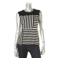 Vince Camuto Womens Knit Striped Pullover Top