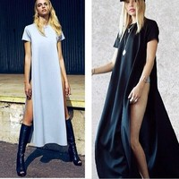 LEISURE T-SHIRT DRESS SEXY PARTY DRESS