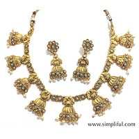 Traditional Choker necklace and earring set