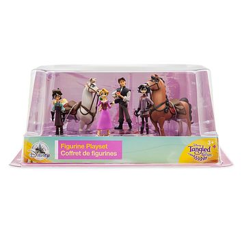 Disney Store Tangled The Series Figure Play Set Playset Cake Topper Rapunzel