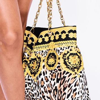 Sauvage Luxe Leopard Beach Bag