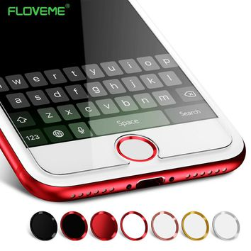 FLOVEME 2pcs/lot Touch ID Sticker Case Keypad Keycap Protector for IPhone 7 6 6s 5 Stickers Unlock Home Button Touch Key