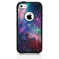 iPhone 5c Case Black Galaxy Nebula (Generic for Otterbox Commuter)