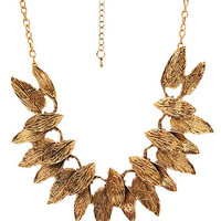 @Free Shipping@ Euro Style Leaf Gold Necklace SP48576 from Voguegirlgo
