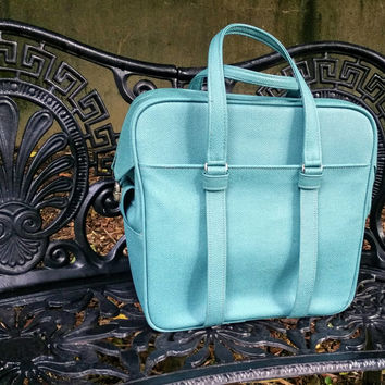 Samsonite Silhouette Aqua Blue Carry On Tote Bowling Bag Style