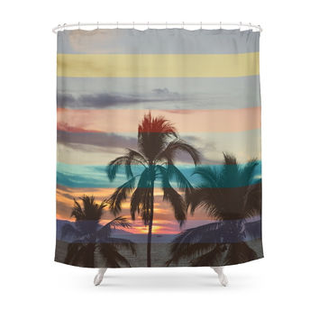 Society6 Palm Tree Shower Curtain