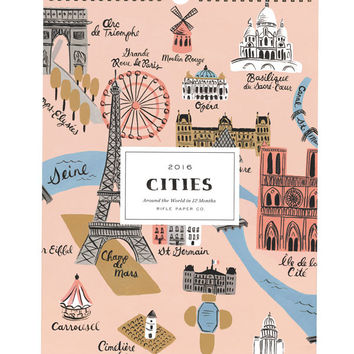 Rifle Paper Co. 2016 Cities Wall Calendar