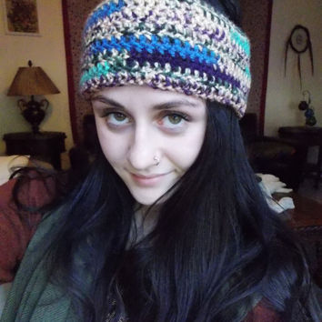 Headband Dreadband Ear Warmer for Fall Autumn Weather // Crochet Knit Dread Lock Accessories