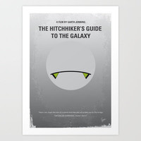 My The Hitchhiker's Guide to the Galaxy Minimal Movie Poster Art Print by Chungkong