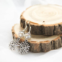 Snowflake Earrings, Snowflake Jewellery, Frozen Earrings, Silver Snowflake Earrings, Winter Earrings