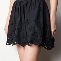 High Waist Doily Skirt