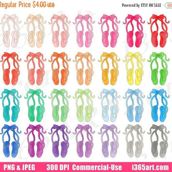 50% OFF SALE Ballet Shoes Clipart, Ballet Slippers Clip Art, Dance Shoes, Pointe, Dancing, Ballerina, Planner Stickers, Digital Graphic, PNG